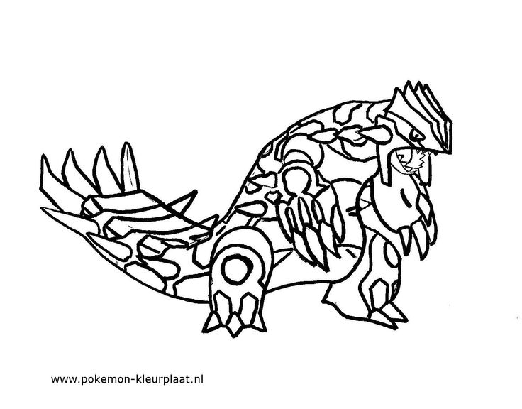 Primal Groudon Coloring Page