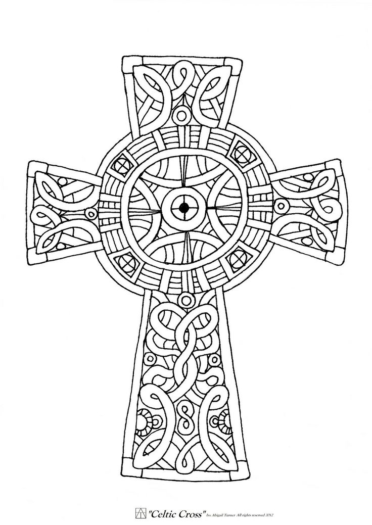 Celtic Cross Coloring Page Coloring