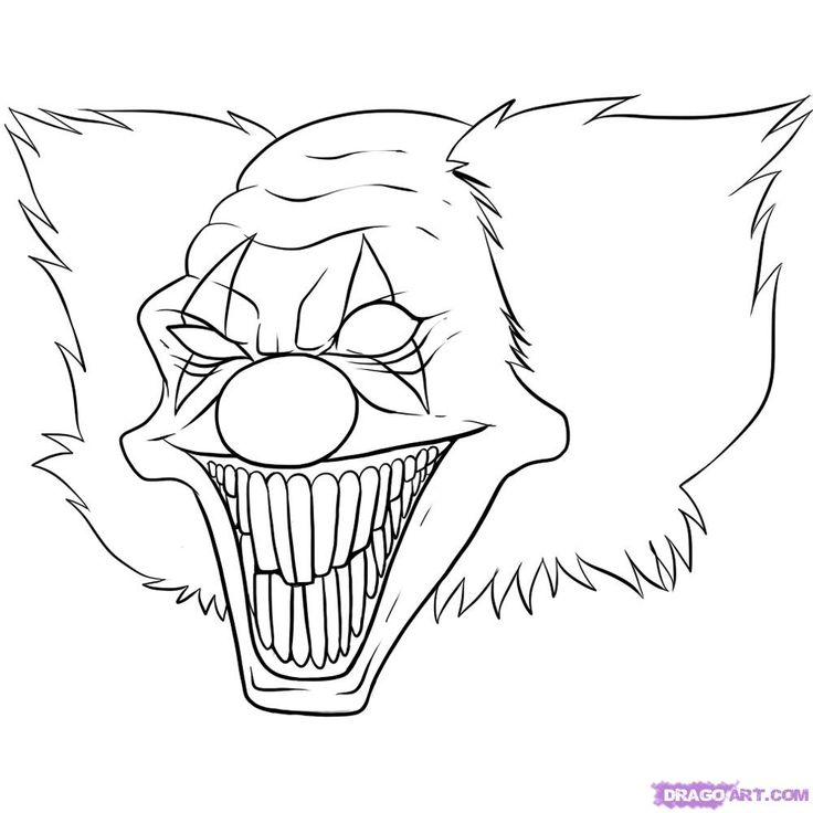 scary coloring pages - photo#28