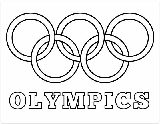 Olympic Flag Coloring Page Coloring Home