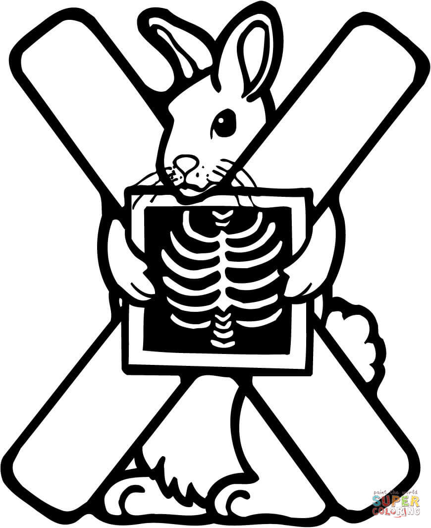 x is for x ray coloring pages - photo #7