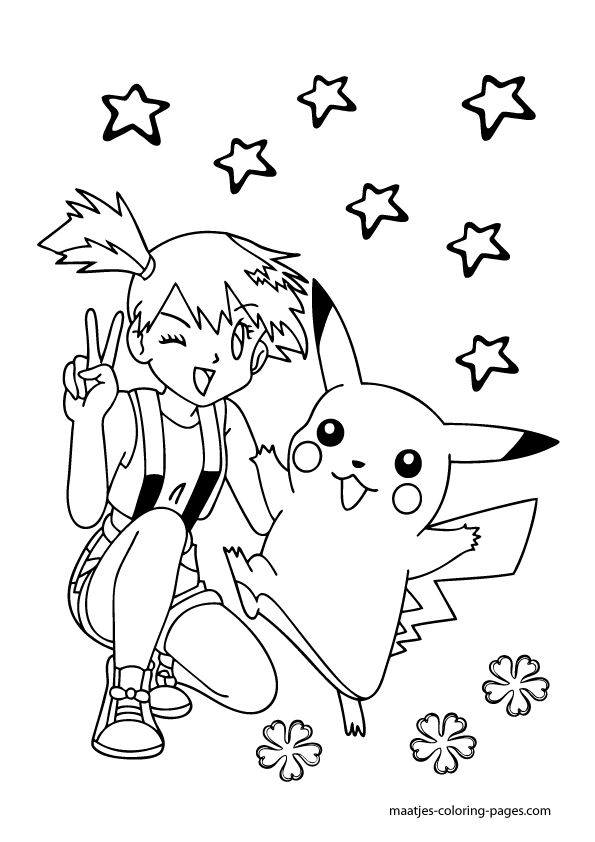 misty pokemon coloring pages az coloring pages