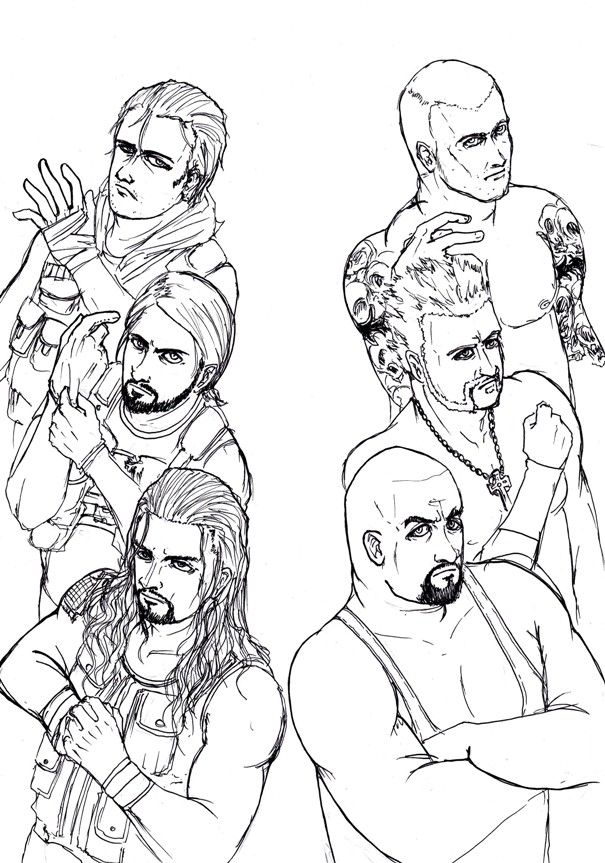 Roman Reigns Coloring Pages - Coloring Home