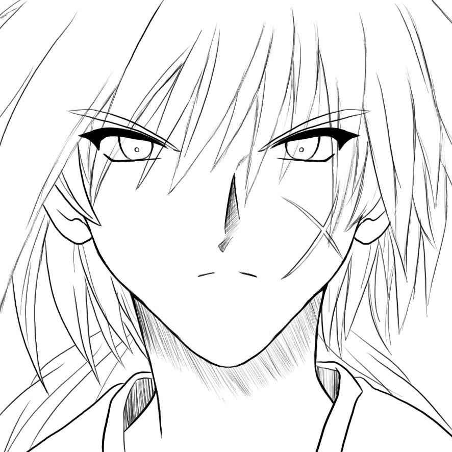 coloring pages for rurouni kenshin - photo#6