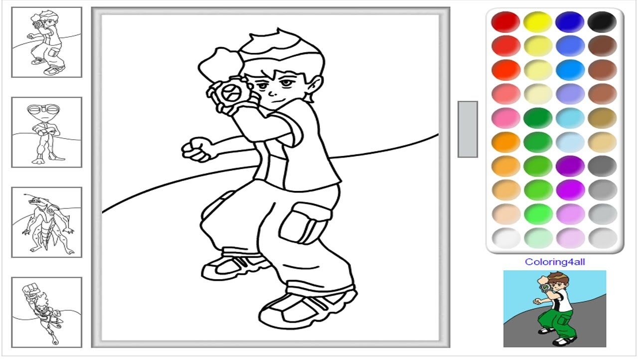 Ben 10 Ultimate Alien Coloring Pages For Kids