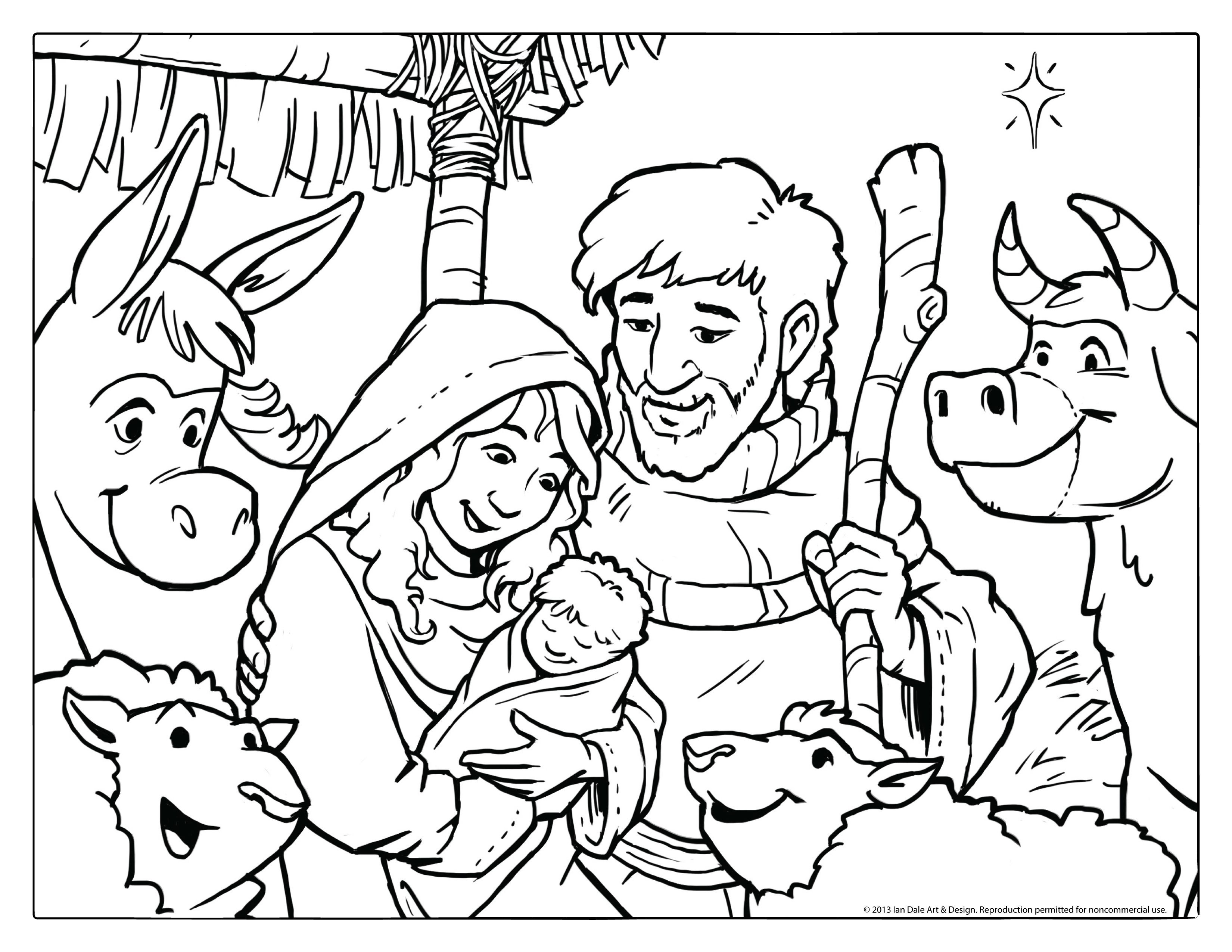 image about Free Printable Nativity Coloring Pages titled Nativity Coloring Internet pages Free of charge Printable Nativity Coloring