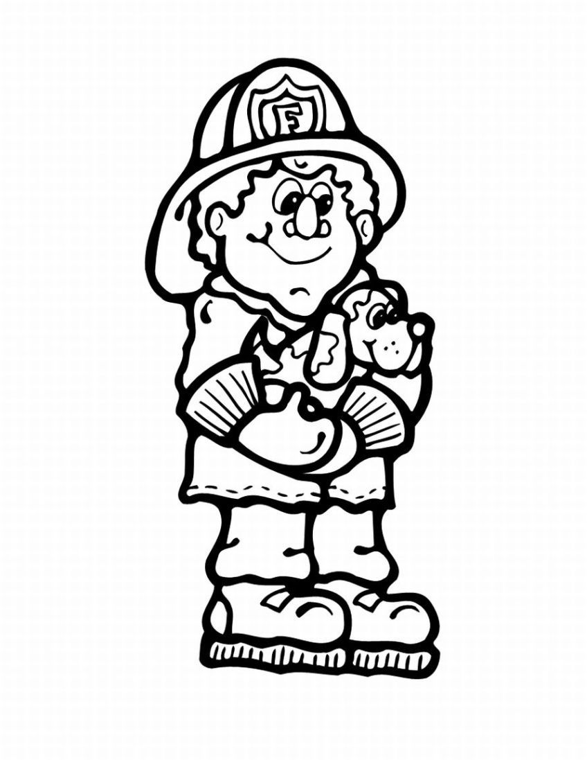 Free Printable Fire Truck Coloring Pages Police And Fireman Coloring Home