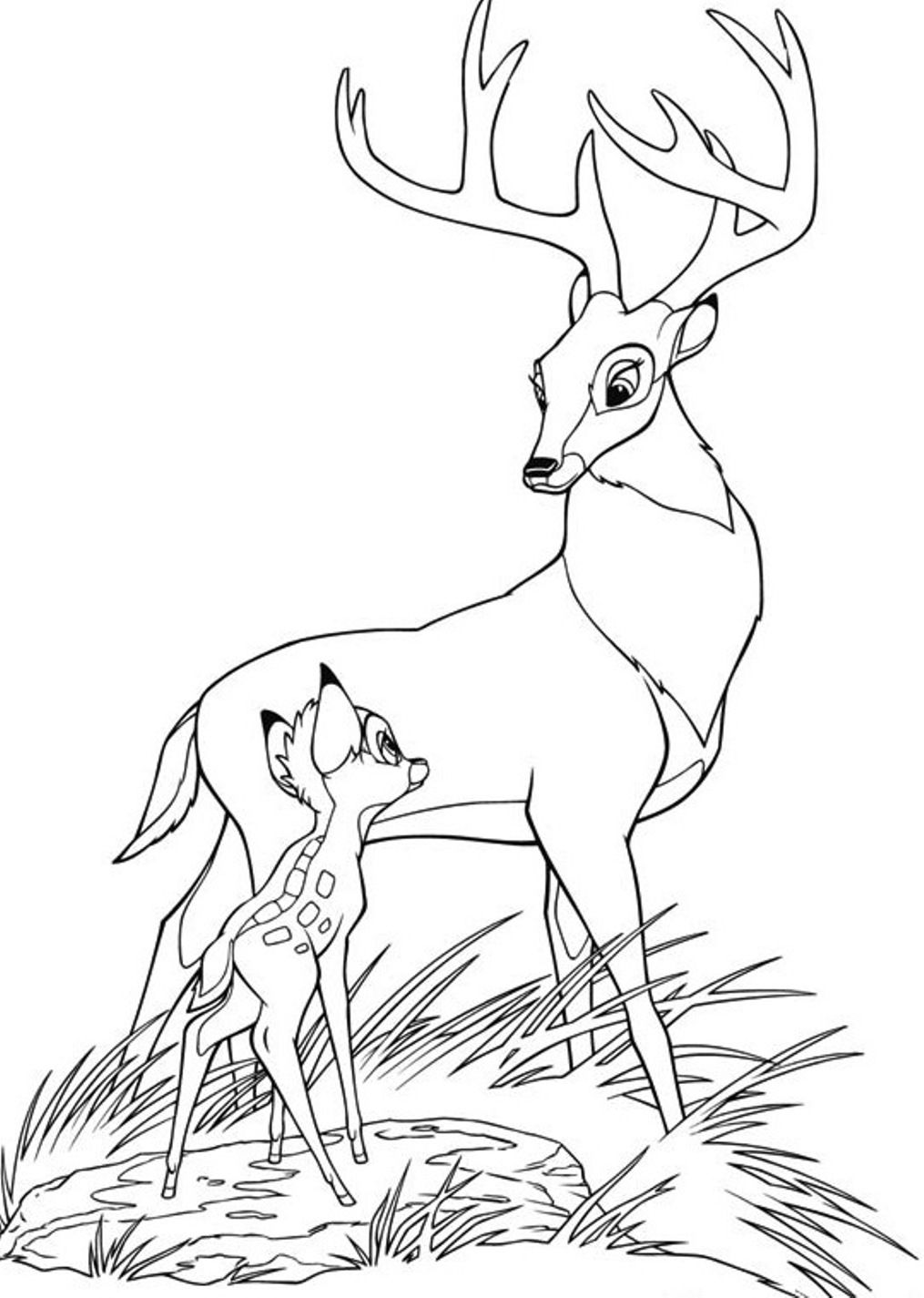 Bambi Coloring Pages Disney AZ Coloring Pages