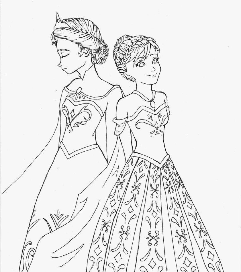 Anna Elsa Coloring Pages Az