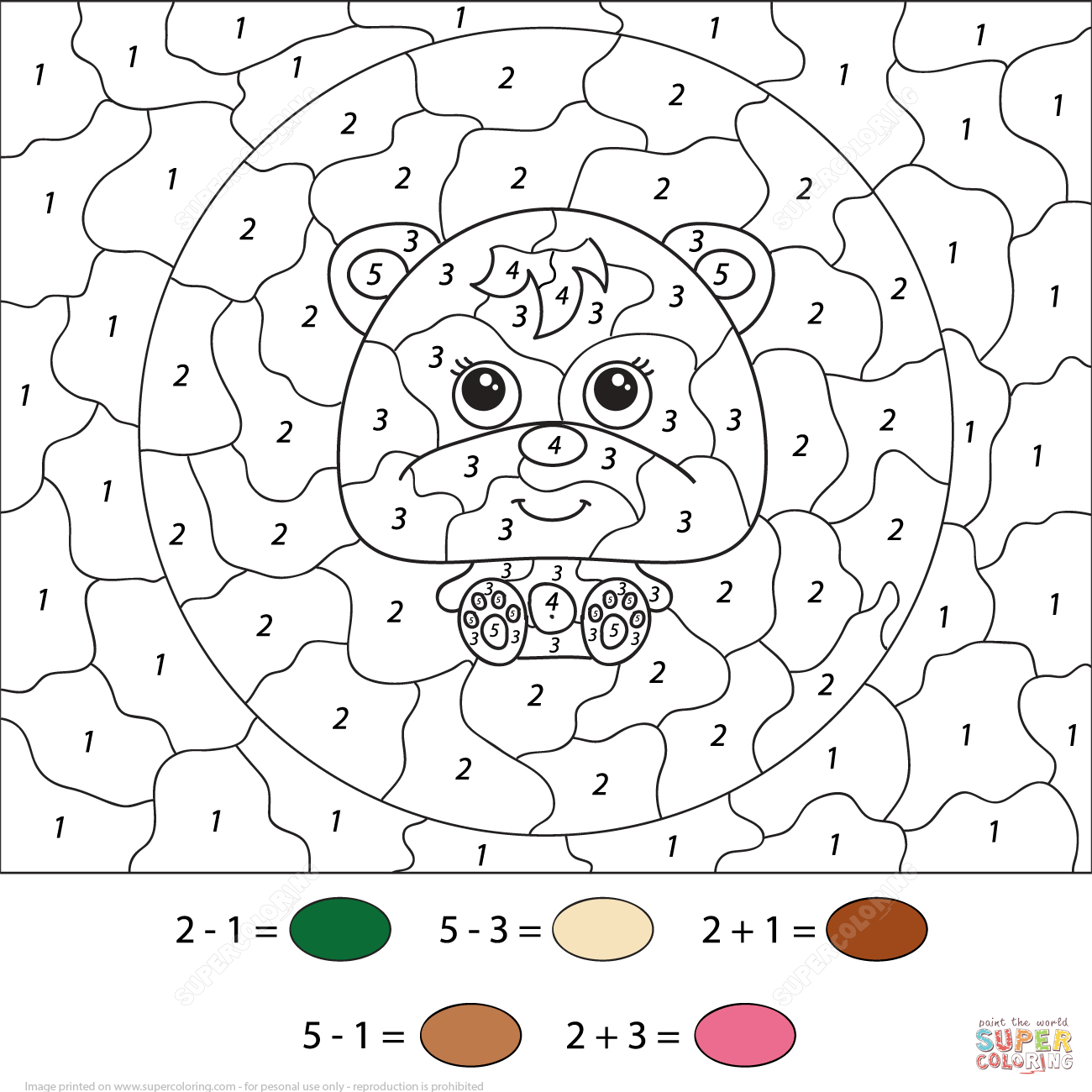 Coloring pages using addition - Helicopter With Addition Color By Number Coloring Page Free