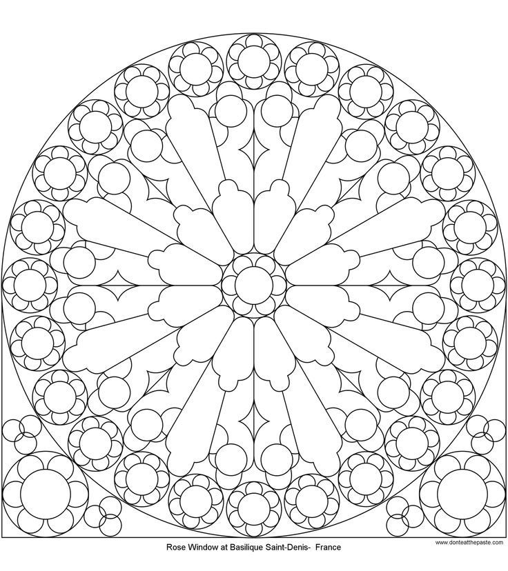 Christmas Stained Glass Window Coloring Pages