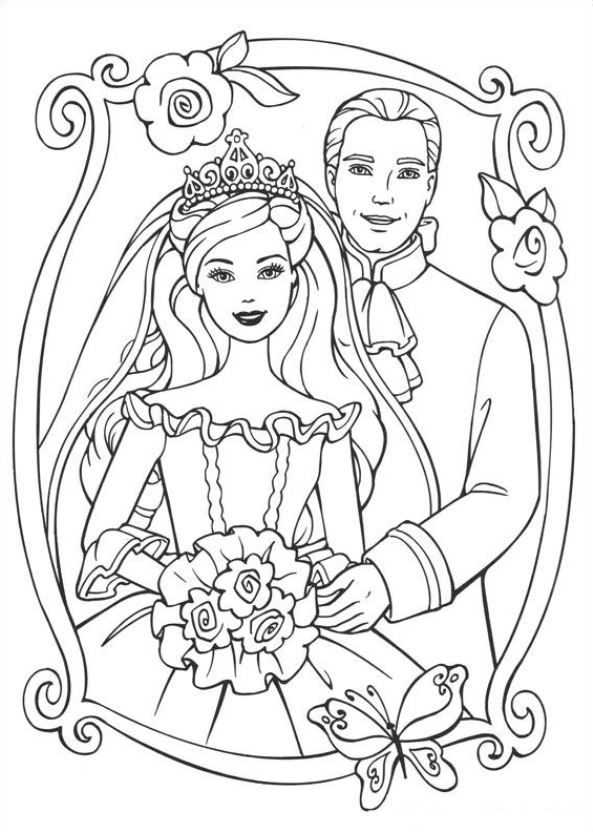 Kids-n-fun.com | 26 coloring pages of Barbie, the Princess and the ...