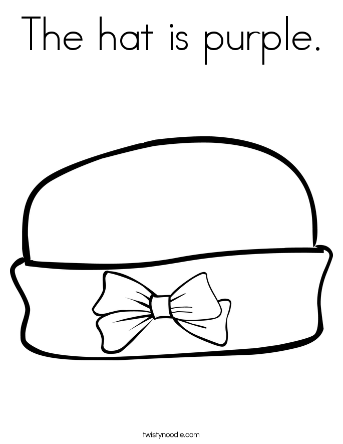 Free printable preschool coloring pages things that are for Ladies hat coloring pages