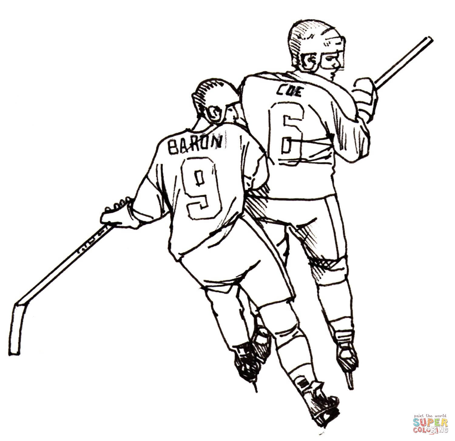 Hockey Player Coloring Page