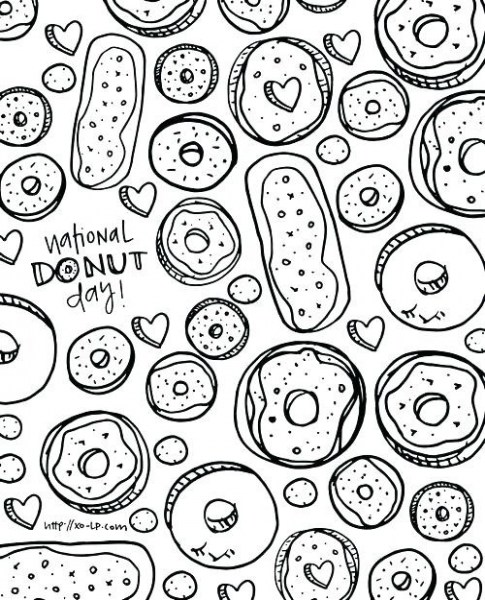 Most Likely Printable Donut Coloring Pages Also Donuts Clipart Coloring Home