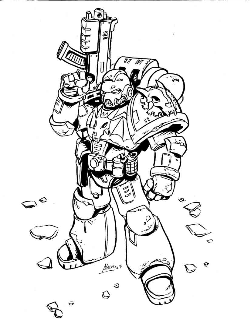 Warhammer Coloring Pages Coloring Home