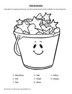 Bucket coloring page coloring home for Bucket filler coloring page