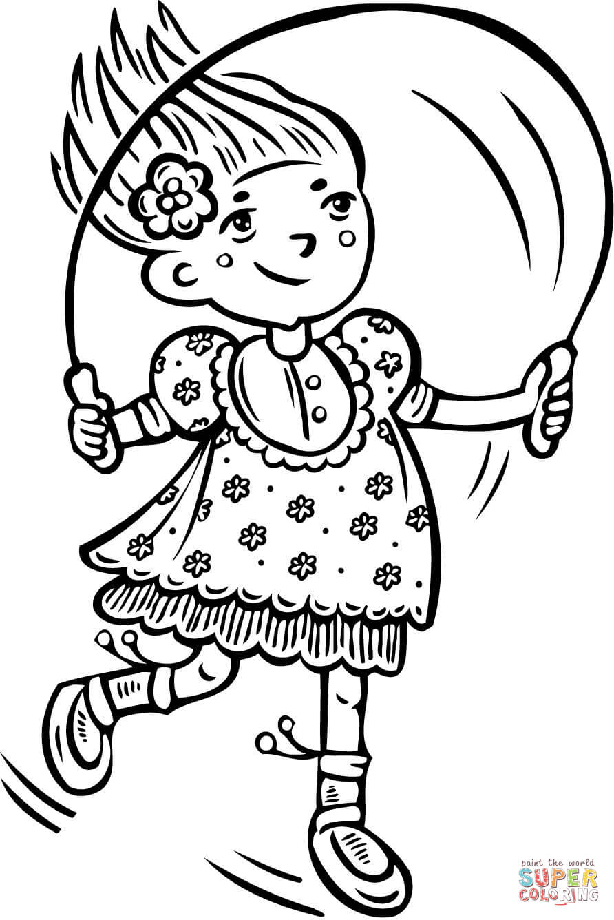 Jump Rope Coloring Pages - Coloring Home