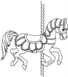 Carousel Horse Coloring Page Coloring Pages For Kids And For