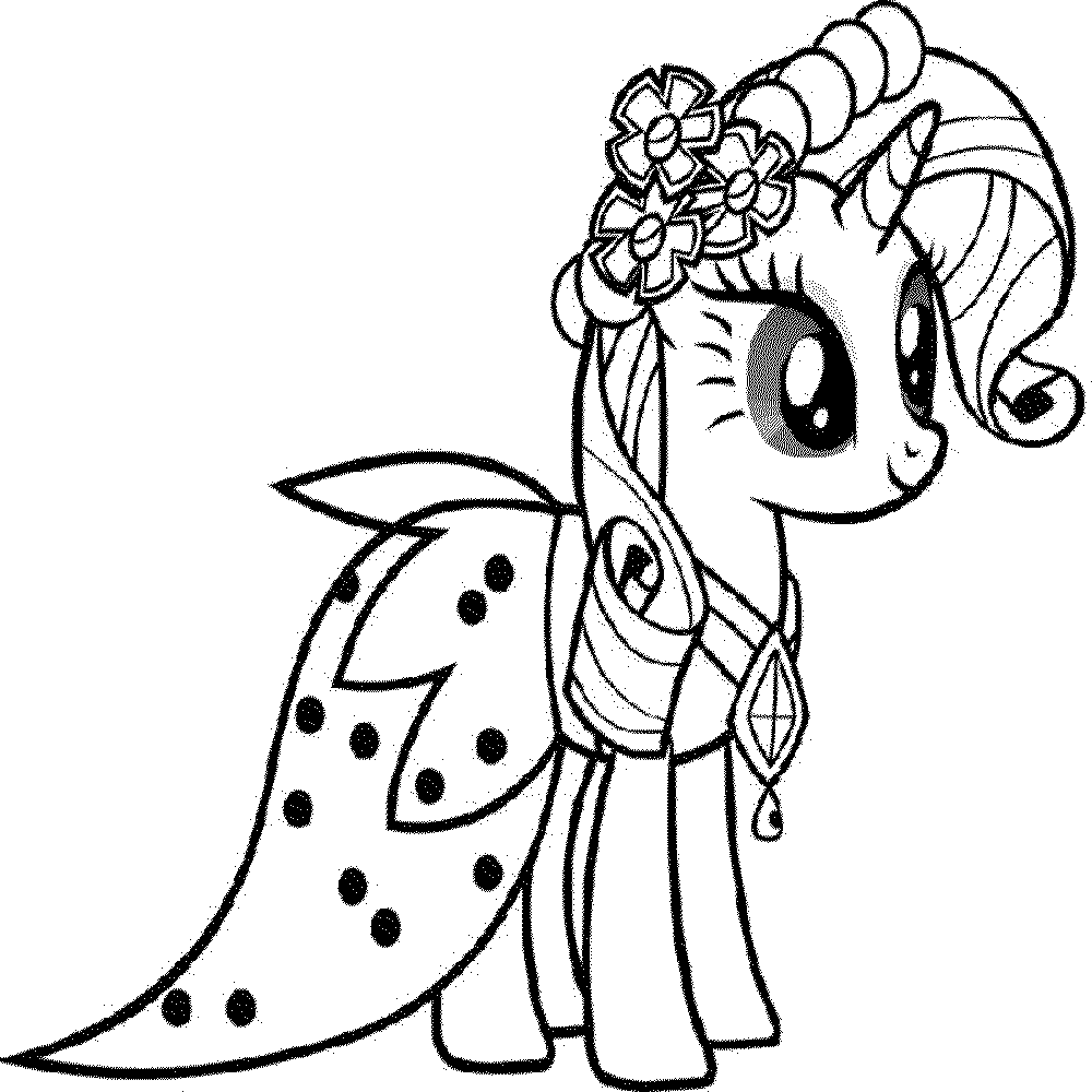 Pony Printable - Coloring Pages for Kids and for Adults