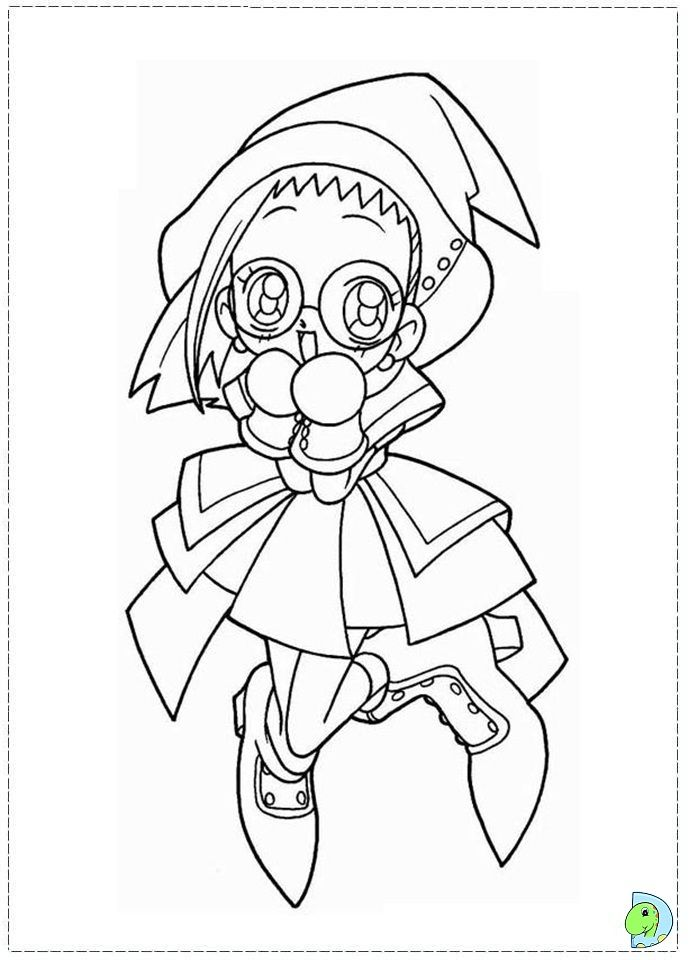 ojamajo doremi coloring pages - photo#8