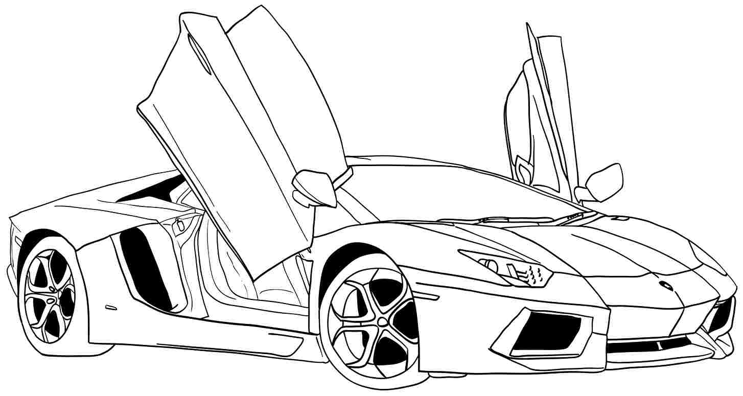 Car Coloring Pages - Free Printable Coloring Pages