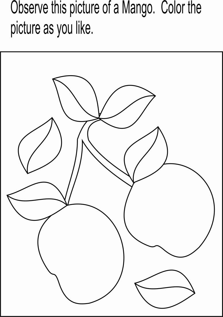 Mango coloring pages 4 coloringpagehub - Mango Coloring Page Printable For Kids