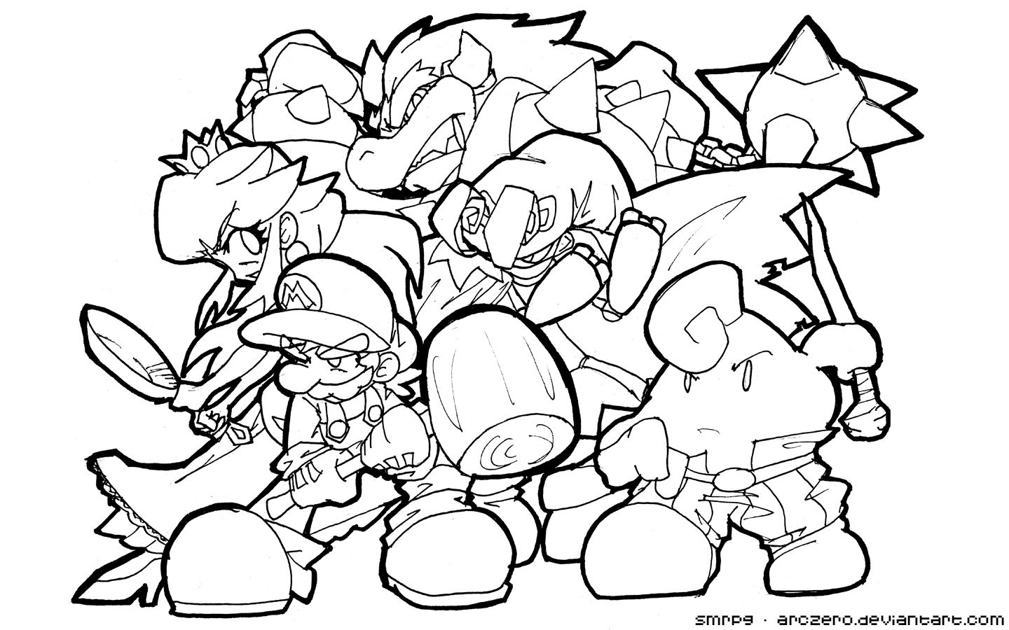 Super Smash Bros Coloring Pages - Coloring Home