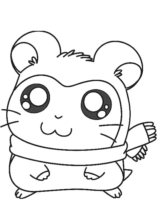 a cute sandy the hamster coloring pages cute hamster coloring
