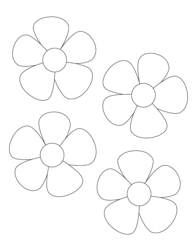 Soft image pertaining to flower templates printable