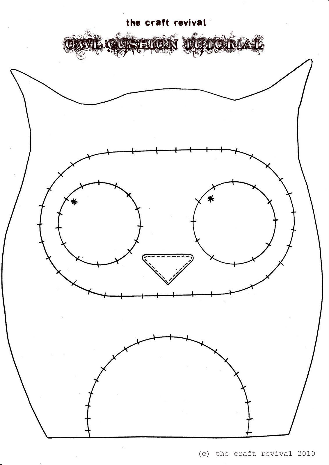 Подушка сова своими руками схема
