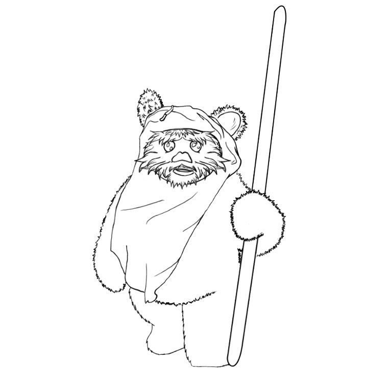 Ewok Coloring Pages Coloring Home Ewok Coloring Page