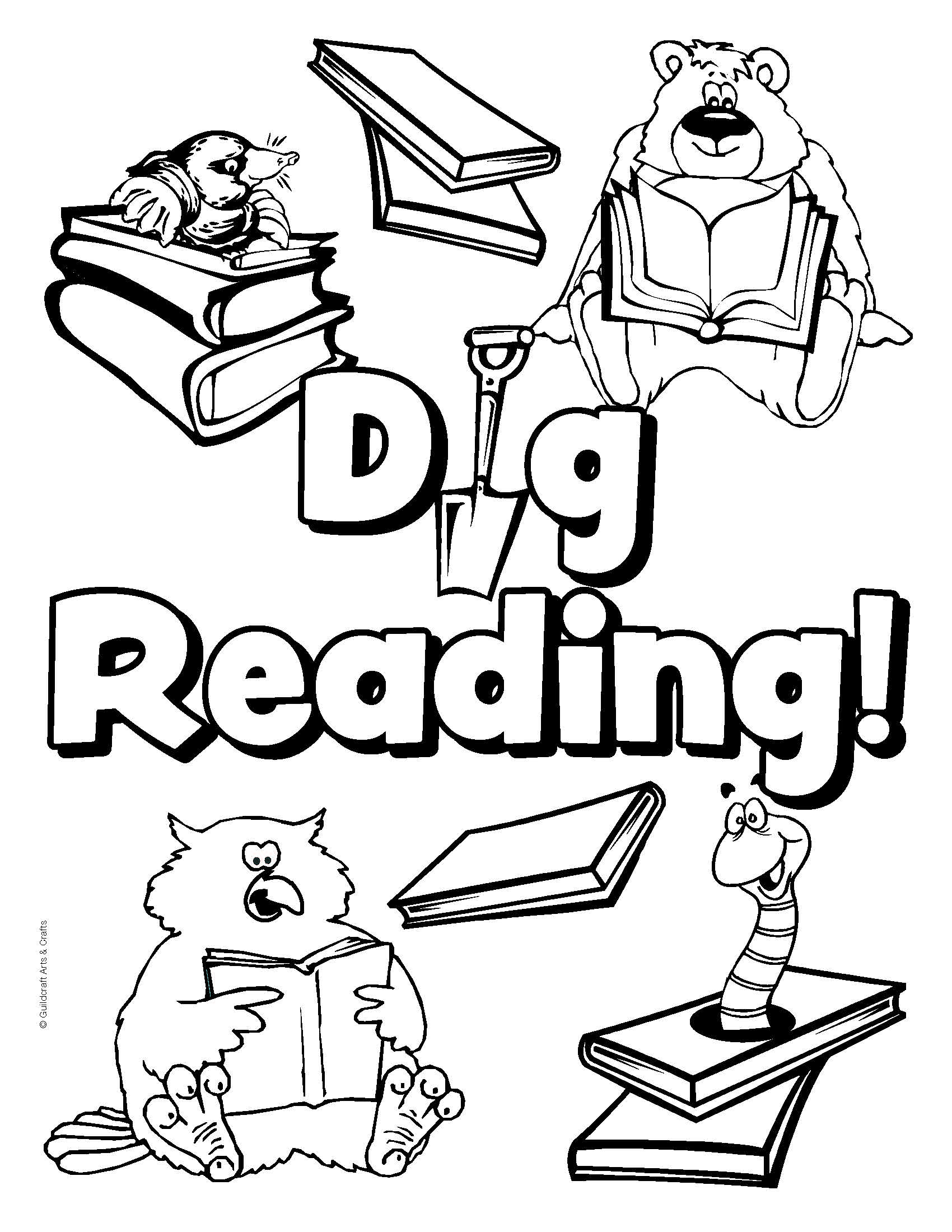 National Library Week Coloring Pages - Coloring Home