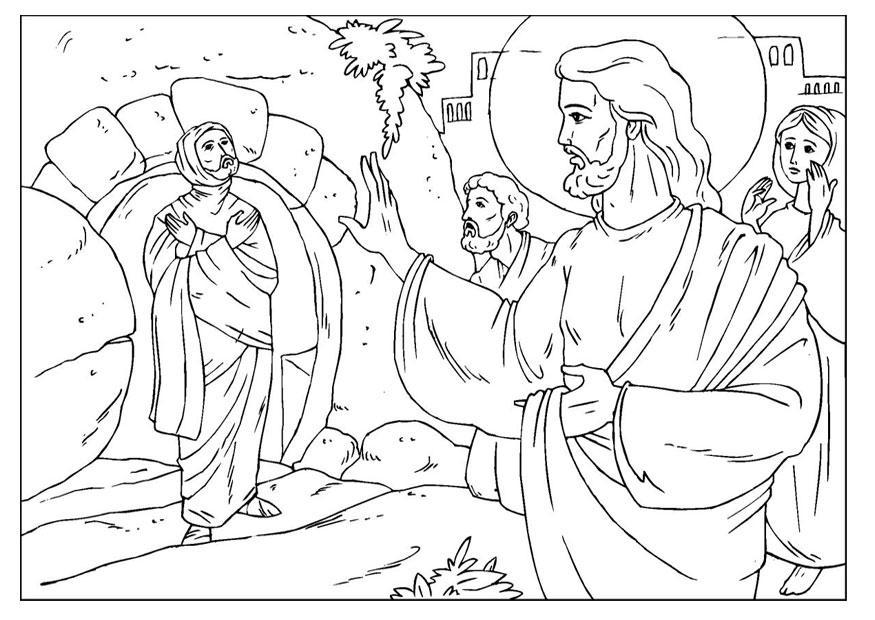 Jesus Raises Lazarus Coloring Page Coloring Home