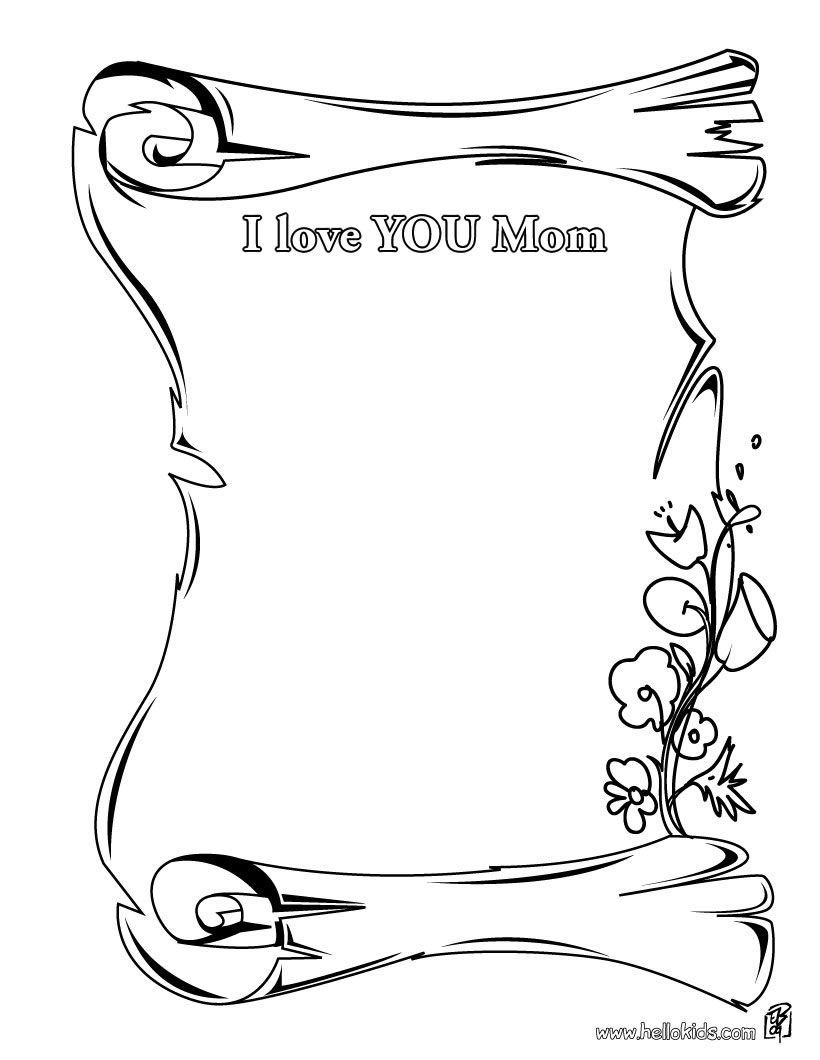 Free Coloring Pages For Mom - Coloring