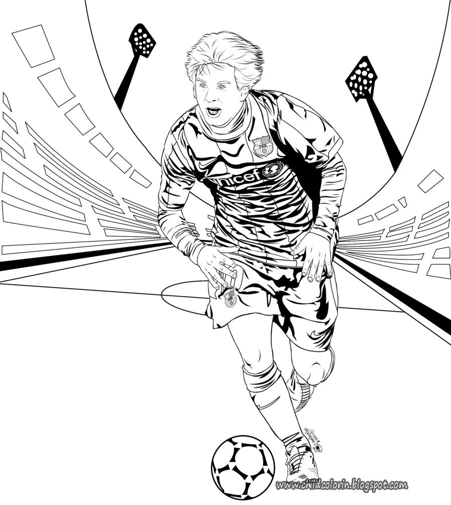 17 pics of messi playing soccer coloring pages soccer player