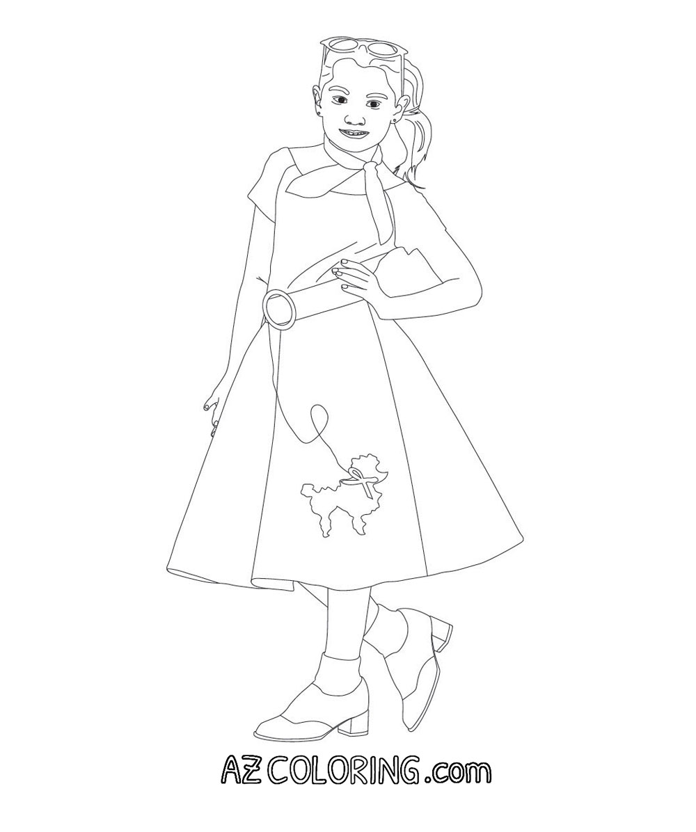 poodle skirt coloring pages - photo#2
