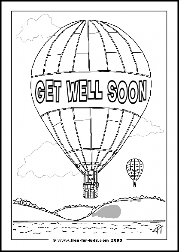 Get Well Coloring Pages - Coloring Home