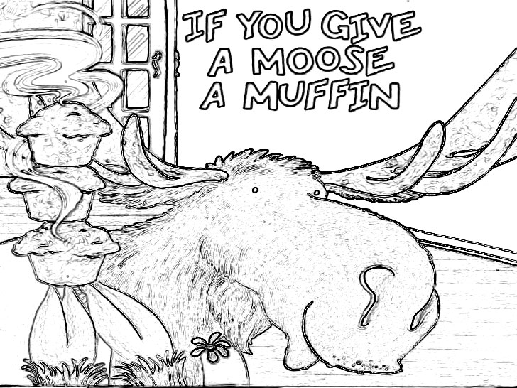 If You Give A Moose A Muffin Coloring Pages Coloring Home If You Give A Moose A Muffin Coloring Page