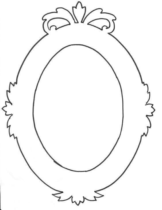 free picture frame coloring pages - photo#31