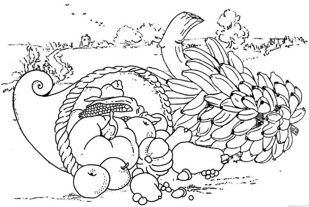 Thanksgiving Food Coloring Pages Free - Coloring Home