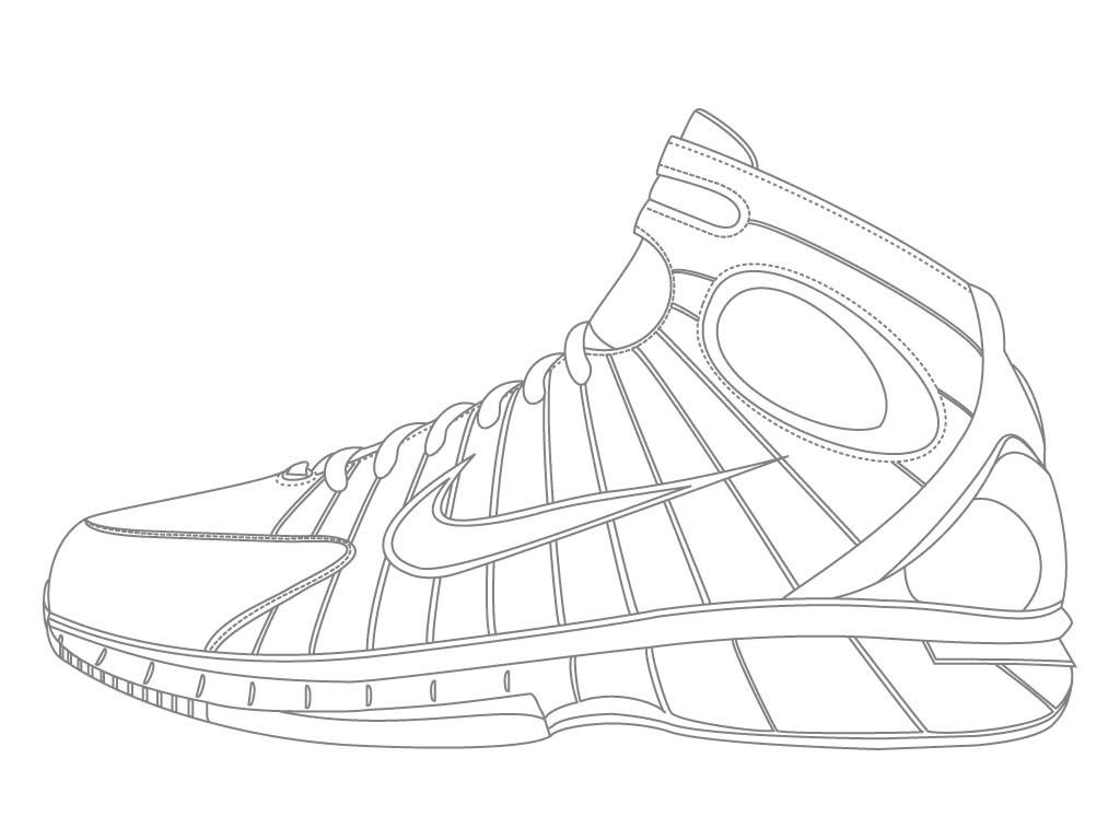 - Jordan Shoe Coloring Pages - Coloring Home