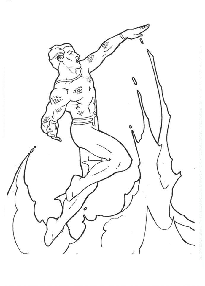 aquaman coloring pages free - coloring home