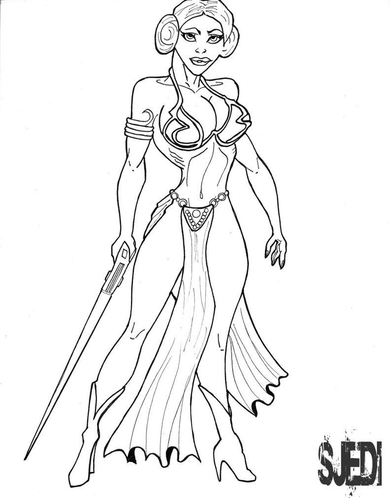 coloring pages star wars princess leia coloring - Lego Princess Leia Coloring Pages