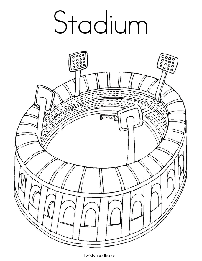 Baseball Stadium Coloring Pages