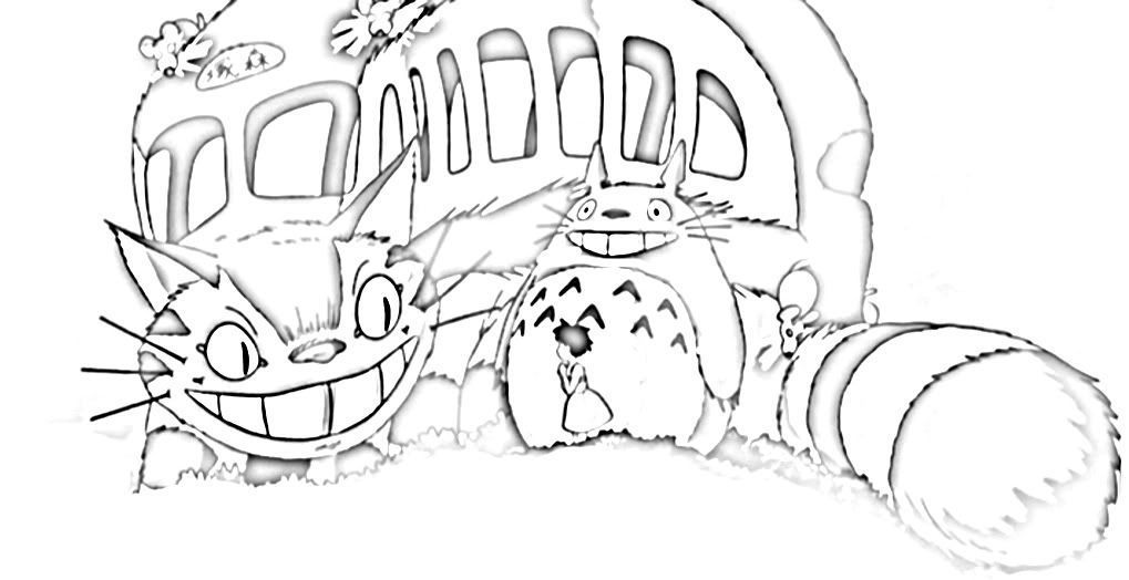 Cat Bus Coloring Page - Coloring Pages For All Ages