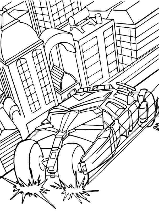 bat mobile coloring book pages - photo#12