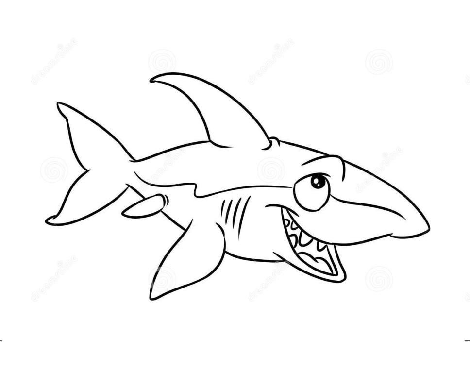 Free Printable Shark Coloring Pages