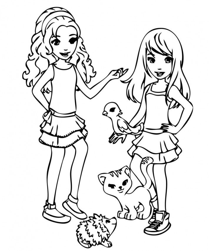 Lego Friends Printable Coloring Pages Coloring Home Coloring Pages Of Lego Friends