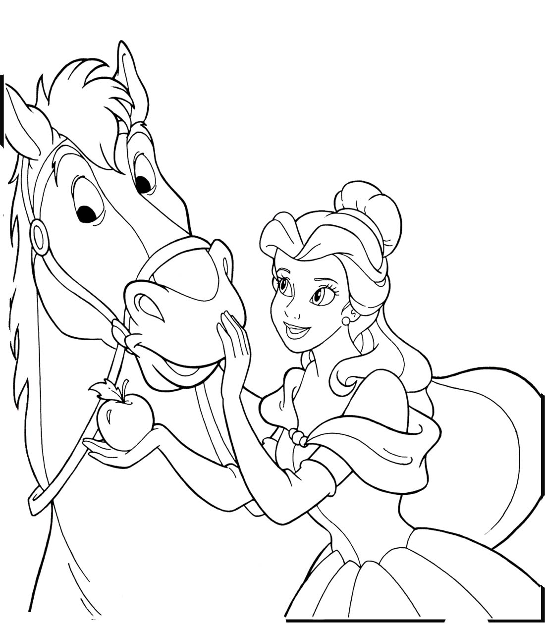 Coloring Pages Princess Unicorn : Unicorn and princess coloring pages az